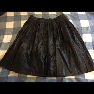 Forever 21 Pleated Faux Leather Skirt Sz S
